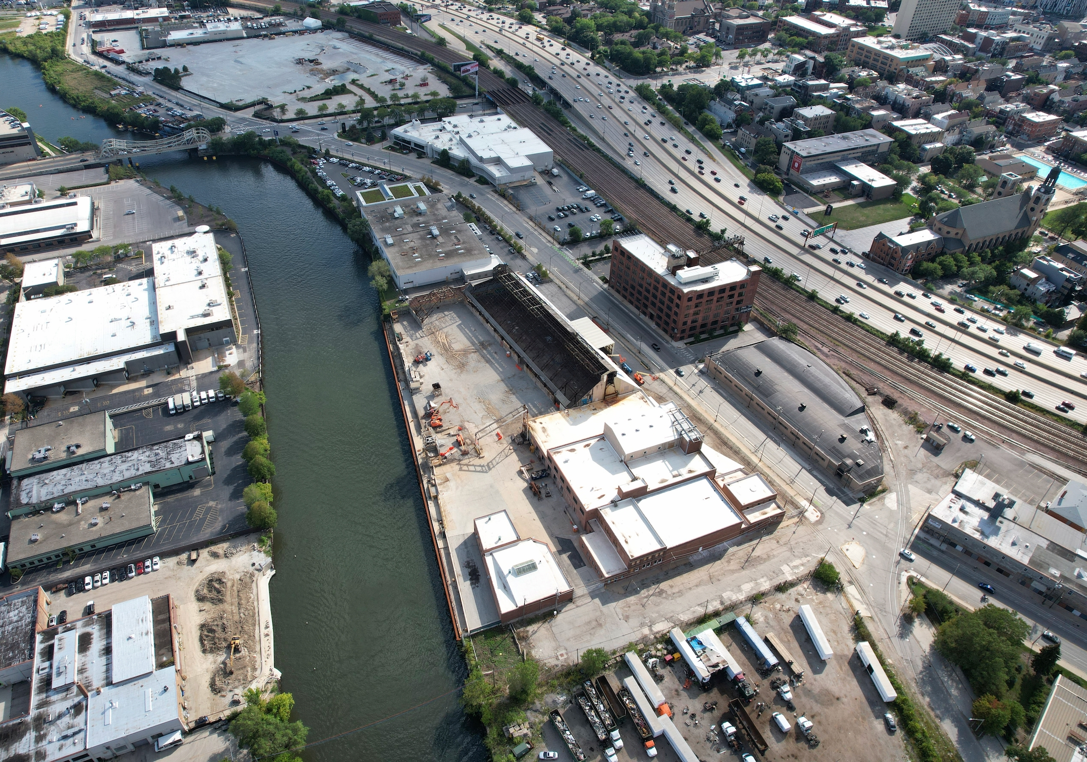 Morton Salt Factory conversion, earlier during roof removal