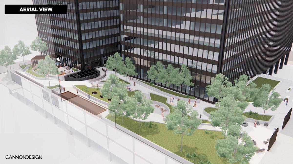 Michigan Plaza terrace renovation
