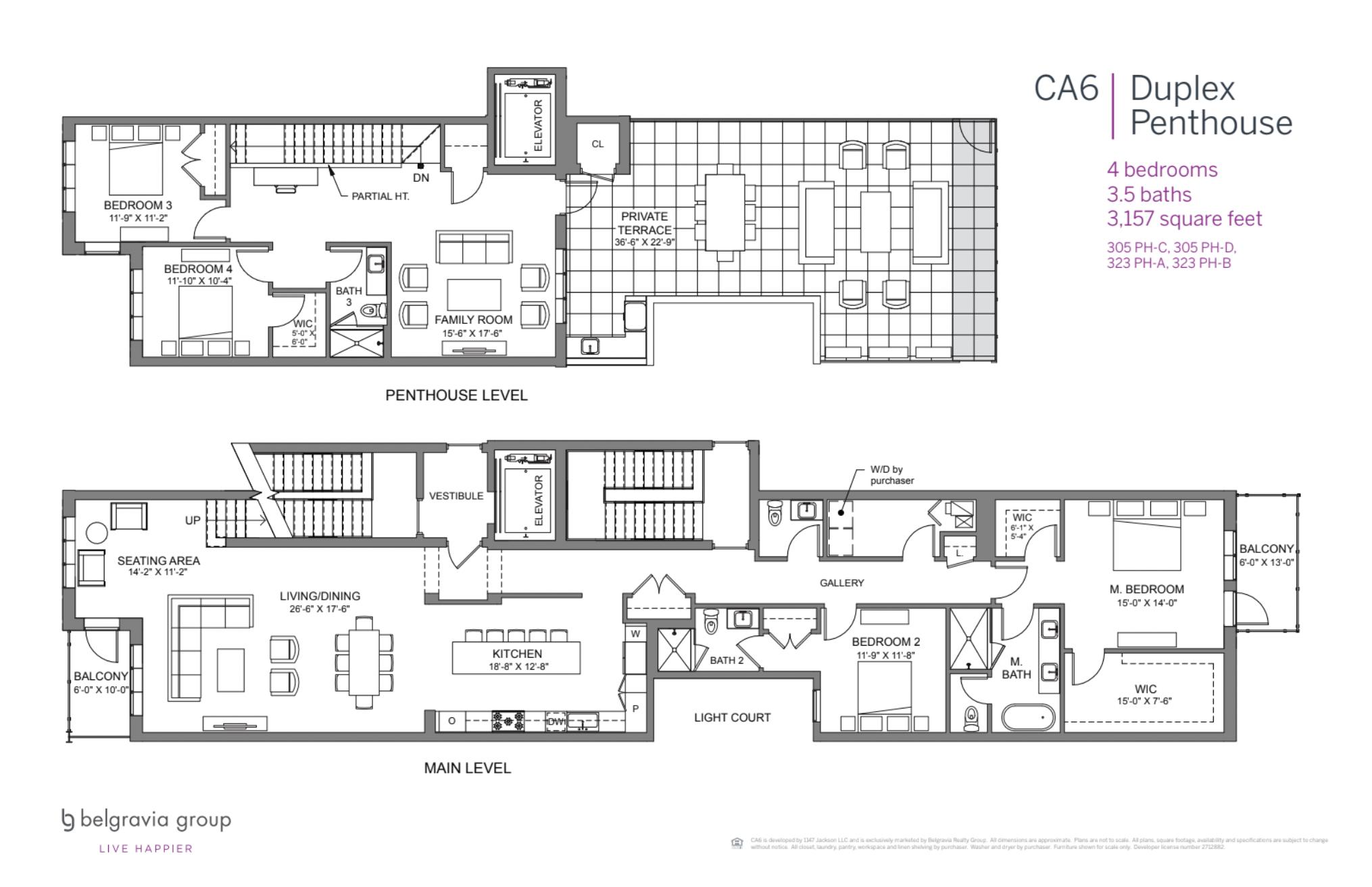 CA6 Condominiums Duplex Penthouse plan (1 of 2)