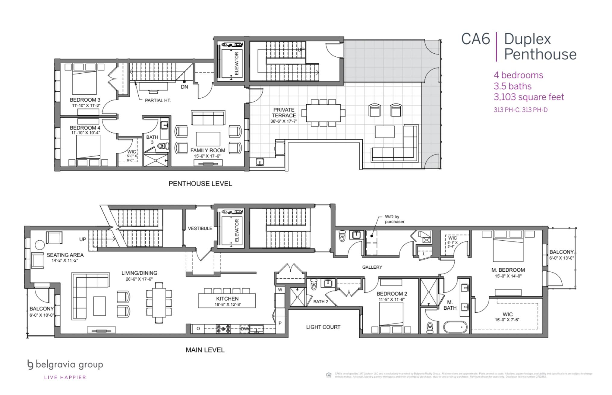 CA6 Condominiums Duplex Penthouse plan (2 of 2)